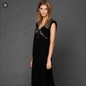 S Free People Black San Jose Maxi Dress